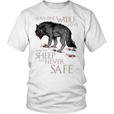 Leave One Wolf Alive And The Sheep Are Never Safe Shirt - Fan Tee - Luxurious Inspirations