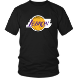 Lebron Los Angeles Shirt - Fan Parody Art T-Shirt T-shirt teelaunch District Unisex Shirt Black S