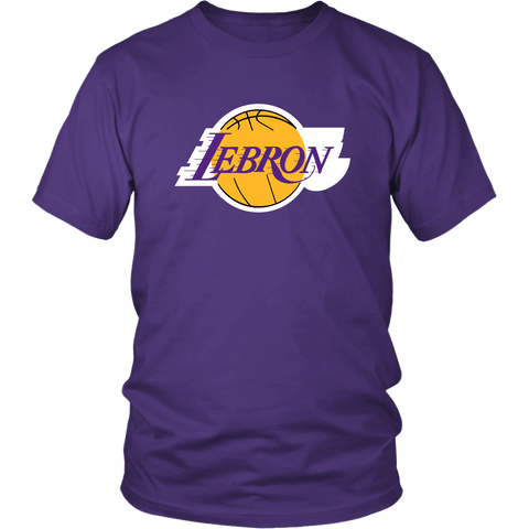 Lebron Los Angeles Shirt - Fan Parody Art T-Shirt T-shirt teelaunch District Unisex Shirt Purple S