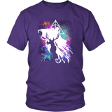 Light And Dark Magic Shirt T-shirt teelaunch District Unisex Shirt Purple S