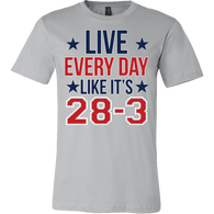 Live Everyday Like It's 28-3 Shirt - Funny Pats Tee T-shirt teelaunch Canvas Mens Shirt Silver S