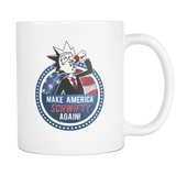 Make America Get Schwifty Again Mug - Rick & Morty Fan Tee For 2020 President Coffee Cup Drinkware teelaunch White