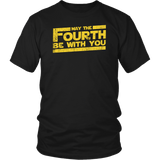 May The Fourth Be With You Shirt - Funny 4th Of May Geek Fan Adult Unisex Mens Womens Tee T-Shirt T-shirt teelaunch District Unisex Shirt Black S