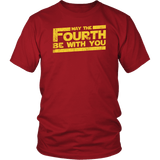 May The Fourth Be With You Shirt - Funny 4th Of May Geek Fan Adult Unisex Mens Womens Tee T-Shirt T-shirt teelaunch District Unisex Shirt Red S