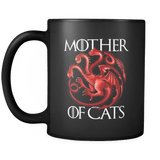 Mother Of Cats Mug - Funny GoT Joke Coffee Cup - Luxurious Inspirations