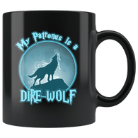 My Patronus Is A Dire Wolf Mug - Funny Wizard Direwolf Lover Coffee Cup - Luxurious Inspirations