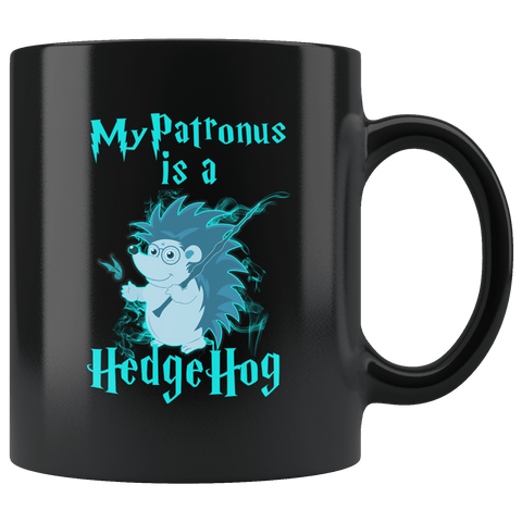 My Patronus Is A Hedgehog Mug Drinkware teelaunch black