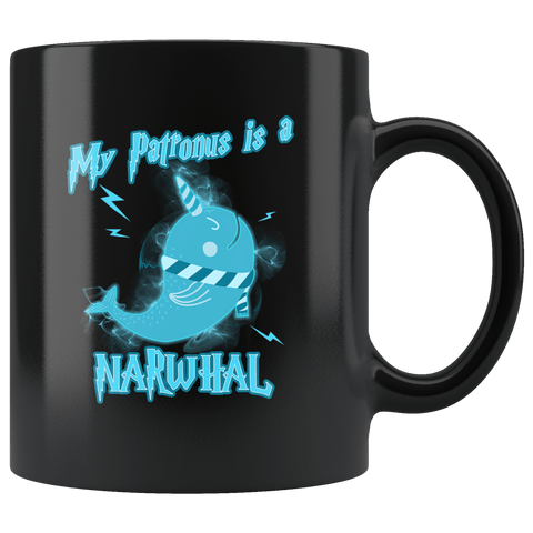 My Patronus Is A Narwhal Mug - Funny Wizard Magical Unicorn Of The Sea Coffee Cup - Luxurious Inspirations