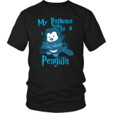 My Patronus Is A Penguin Shirt T-shirt teelaunch District Unisex Shirt Black S