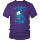 My Patronus Is A Penguin Shirt T-shirt teelaunch District Unisex Shirt Purple S