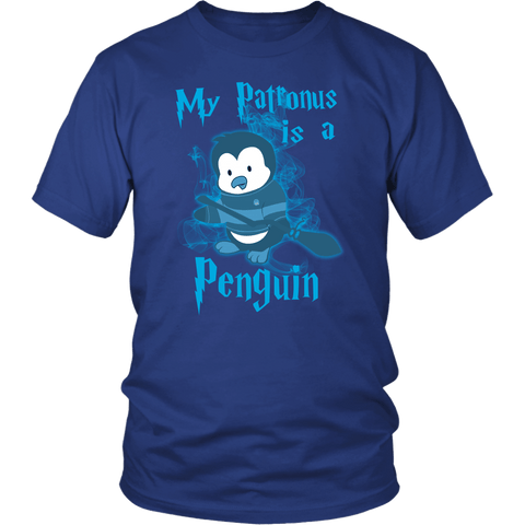 My Patronus Is A Penguin Shirt T-shirt teelaunch District Unisex Shirt Royal Blue S