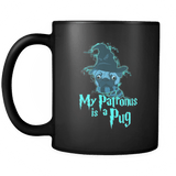 My Patronus Is A Pug Mug - 2018 Wizard Magic Lovers Cute Animal Pugs Coffee Cup Drinkware teelaunch