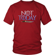 Not Today Arya T-Shirt - Funny GOT Fan Ice Add You To The List Tee Shirt - Luxurious Inspirations