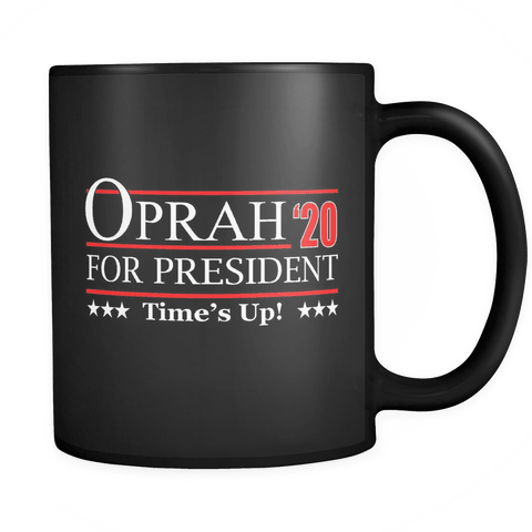 Oprah 2020 For President Mug - Hoperah Hope Time's Up Election Anti-Trump Coffee Cup - Luxurious Inspirations