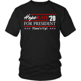Oprah 2020 For President Shirt - Hoperah Hope Time's Up Election Anti-Trump Tee T-shirt teelaunch District Unisex Shirt Black S
