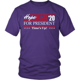 Oprah 2020 For President Shirt - Hoperah Hope Time's Up Election Anti-Trump Tee T-shirt teelaunch District Unisex Shirt Purple S