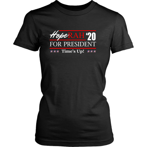 Oprah 2020 For President Shirt - Hoperah Hope Time's Up Election Anti-Trump Womens Tee T-shirt teelaunch District Womens Shirt Black XS