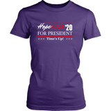 Oprah 2020 For President Shirt - Hoperah Hope Time's Up Election Anti-Trump Womens Tee T-shirt teelaunch District Womens Shirt Purple XS