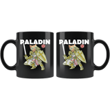 Paladin Cat Black Mug - Funny Class DND D&D Dungeons And Dragons Coffee Cup Drinkware teelaunch