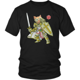 Paladin Cat - DND Edition T-shirt teelaunch District Unisex Shirt Black S