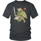 Paladin Cat - DND Edition T-shirt teelaunch District Unisex Shirt Charcoal S