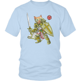 Paladin Cat - DND Edition T-shirt teelaunch District Unisex Shirt Ice Blue S