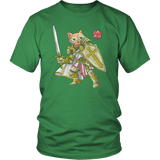 Paladin Cat - DND Edition T-shirt teelaunch District Unisex Shirt Kelly Green S