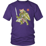 Paladin Cat - DND Edition T-shirt teelaunch District Unisex Shirt Purple S