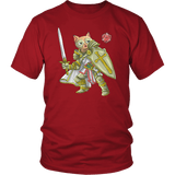 Paladin Cat - DND Edition T-shirt teelaunch District Unisex Shirt Red S