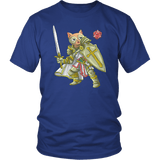 Paladin Cat - DND Edition T-shirt teelaunch District Unisex Shirt Royal Blue S