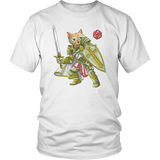 Paladin Cat - DND Edition T-shirt teelaunch District Unisex Shirt White S