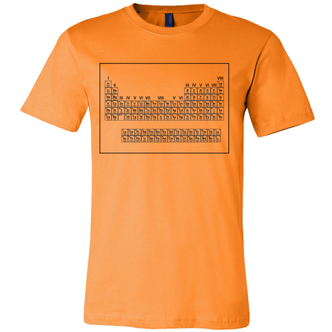 Periodic Table Of Stranger Elements And Other Things Shirt - Retro Fan Tee T-shirt teelaunch Canvas Mens Shirt Orange S