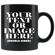 Personalized Black Mug - Luxurious Inspirations