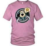 Philadelphia Underdogs - Eagles Fan Tee philly teelaunch District Unisex Shirt Pink S