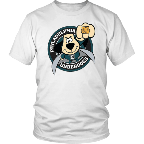Philadelphia Underdogs - Eagles Fan Tee philly teelaunch District Unisex Shirt White S