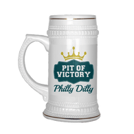 Philly Dilly Pit Of Victory Tee Shirt Stein Mug - Funny Football Philadelphia Philly! Fans 30 Ounce Vacuum Beer Tumbler Drinkware teelaunch