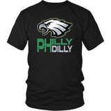 Philly Dilly Tee Shirt - Funny Football Philadelphia Philly! Football Fans T-Shirt philly teelaunch District Unisex Shirt Black S
