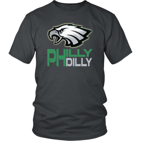 Philly Dilly Tee Shirt - Funny Football Philadelphia Philly! Football Fans T-Shirt philly teelaunch District Unisex Shirt Charcoal S