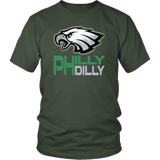 Philly Dilly Tee Shirt - Funny Football Philadelphia Philly! Football Fans T-Shirt philly teelaunch District Unisex Shirt Olive S