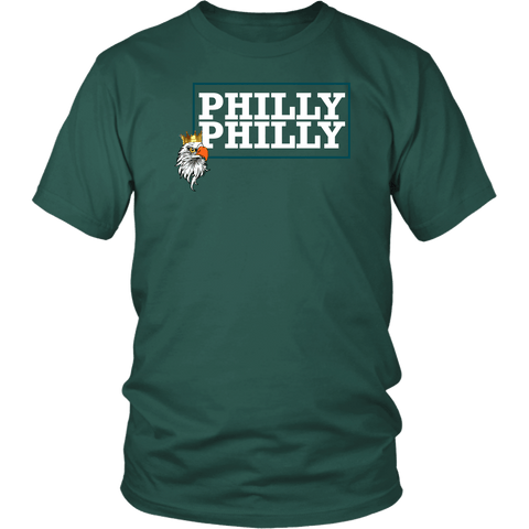 Philly Philly! Eagle Tee Shirt - Funny Football Philadelphia Dilly Champions Football Fans T-Shirt philly teelaunch District Unisex Shirt Dark Green S