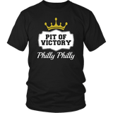 Philly Philly! Pit Of Victory Tee Shirt - Funny Football Philadelphia Dilly Football Fans T-Shirt philly teelaunch District Unisex Shirt Black S