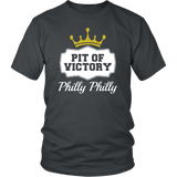 Philly Philly! Pit Of Victory Tee Shirt - Funny Football Philadelphia Dilly Football Fans T-Shirt philly teelaunch District Unisex Shirt Charcoal S