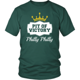Philly Philly! Pit Of Victory Tee Shirt - Funny Football Philadelphia Dilly Football Fans T-Shirt philly teelaunch District Unisex Shirt Dark Green S