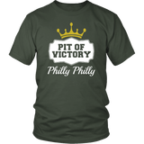 Philly Philly! Pit Of Victory Tee Shirt - Funny Football Philadelphia Dilly Football Fans T-Shirt philly teelaunch District Unisex Shirt Olive S