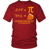 Pi Day Shirt - Funny 2018 Pie Math Coincidence Geek Tee - Luxurious Inspirations