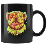 Pit bull Art Painting Lover Mug - Retro Style California Dog Pet Owner Coffee Cup - Luxurious Inspirations