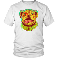 Pitbull Art Dog Lover T-Shirt T-shirt teelaunch District Unisex Shirt White S