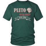 Pluto Never Forget 1930-2006 Shirt - Funny Space Tee - Luxurious Inspirations
