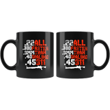 Pro Gun All Faster than Calling 911 Mug - Funny Self Defense Second Amendment Coffee Cup - Luxurious Inspirations
