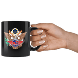 Proudly Made in The USA Mug - America American Patriotic Veteran Army Navy Airforce Support Proud Coffee Cup Drinkware teelaunch